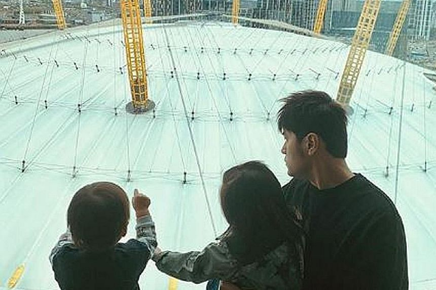 JAY JUNIOR'S FIRST CONCERT: Are we seeing the birth of a new superstar? 	Taiwanese pop star Jay Chou, who held two concerts at the O2 Arena in London last weekend, posted on Instagram a video of his one-year-old son Romeo attending one of his concert