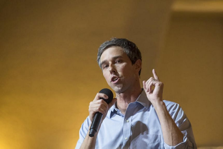 Mr Beto O'Rourke, former representative from Texas and a 2020 Democratic presidential candidate, at a townhall event in San Francisco, California, US, on April 28, 2019.