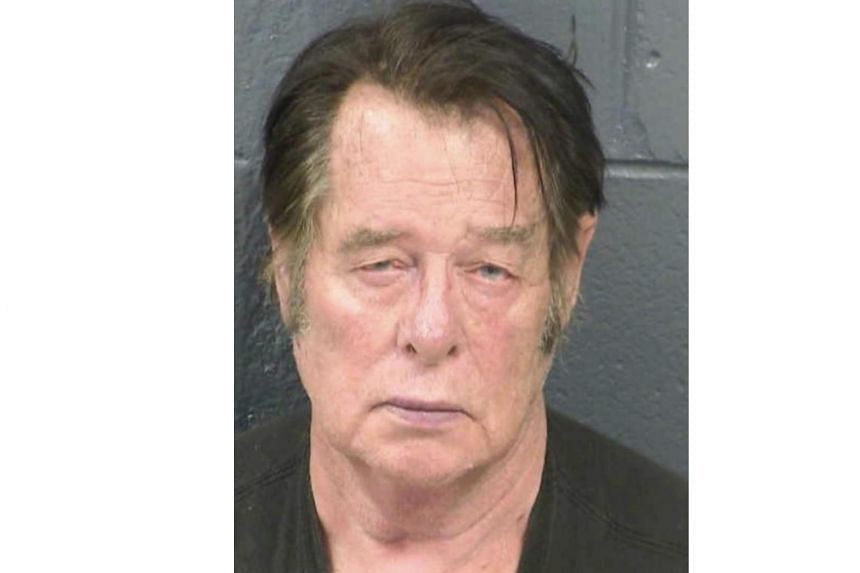 Larry Mitchell Hopkins appears in a police booking photo taken at the Dona Ana County Detention Center in Las Cruces, New Mexico, US, on April 20, 2019.