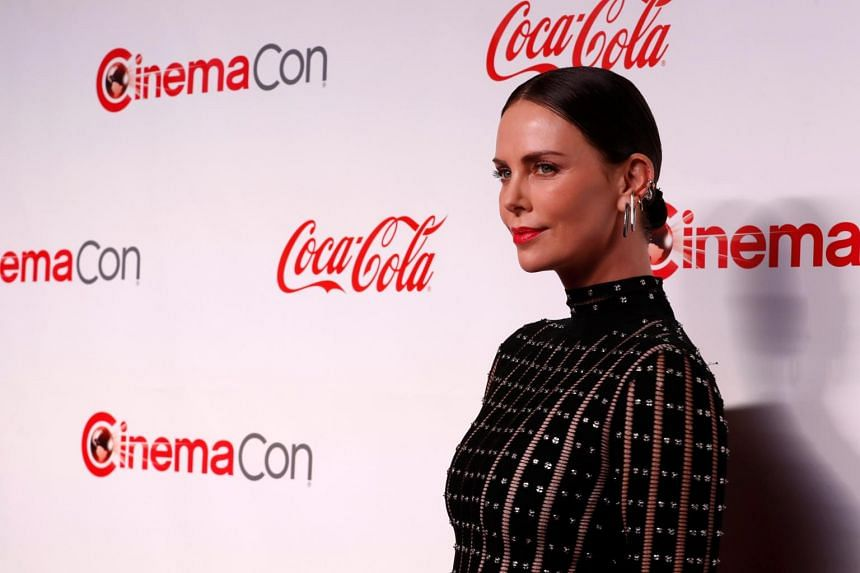 Actress Charlize Theron poses during the CinemaCon Big Screen Achievement Awards ceremony at Caesars Palace in Las Vegas, Nevada, US, on April 4, 2019.