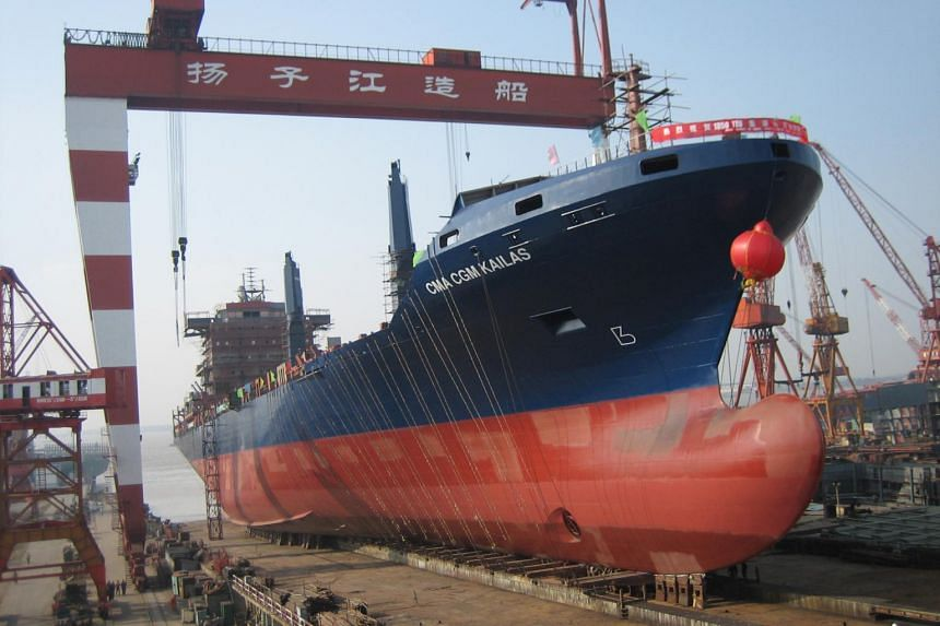 Revenue for Yangzijiang Shipbuilding was up 27 per cent to 6.29 billion yuan, from 4.96 billion yuan the year prior.