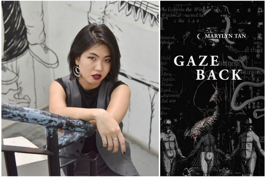 Gaze Back (right, $16.82 before GST) by Marylyn Tan (left) is available from Books Kinokuniya, MPH, City Book Room, Grassroots Book Room, selected Times bookstores and ethosbooks.com.sg.