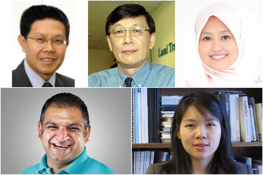 The five new members of the Public Transport Council (clockwise from top left) Lim Boon Wee, Lim Bok Ngam, Rahayu Mahzam, Lynette Cheah and Thuvinder Singh.