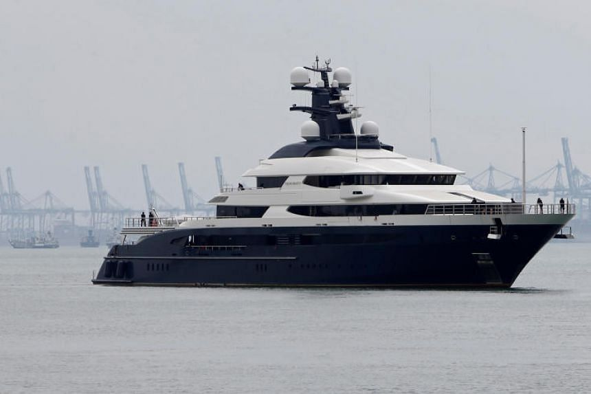 The superyacht was one of many luxury items seized by the Malaysian government as part of its probe into money laundering involving the 1Malaysia Development Berhad state fund.