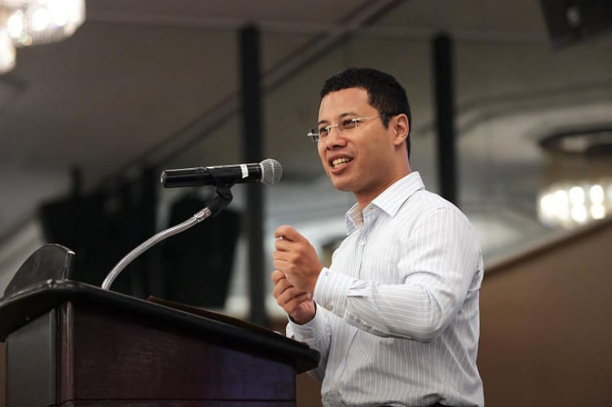 Minister for Social and Family Development Desmond Lee speaking at the Ministry of Social and Family Development's inaugural Family Service Centres Sector Advance at the Concorde Hotel on April 30, 2019.