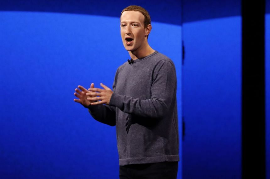 Mark Zuckerberg makes his keynote speech during Facebook's annual F8 developers conference.