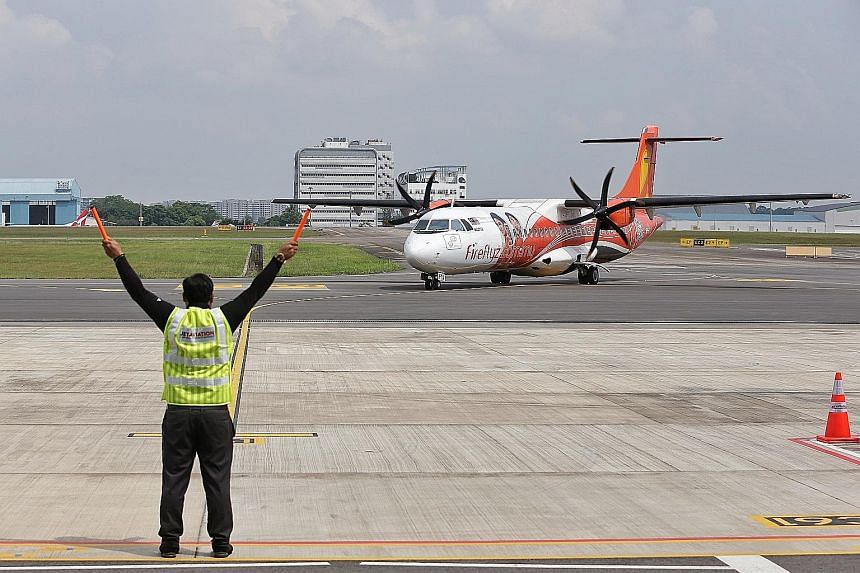 Firefly's inaugural landing at Seletar Airport on April 21, from Malaysia's Subang Airport. The flight marked the start of the airline's scheduled operations at the Singapore airport after the Republic and Malaysia took steps to defuse their airspace