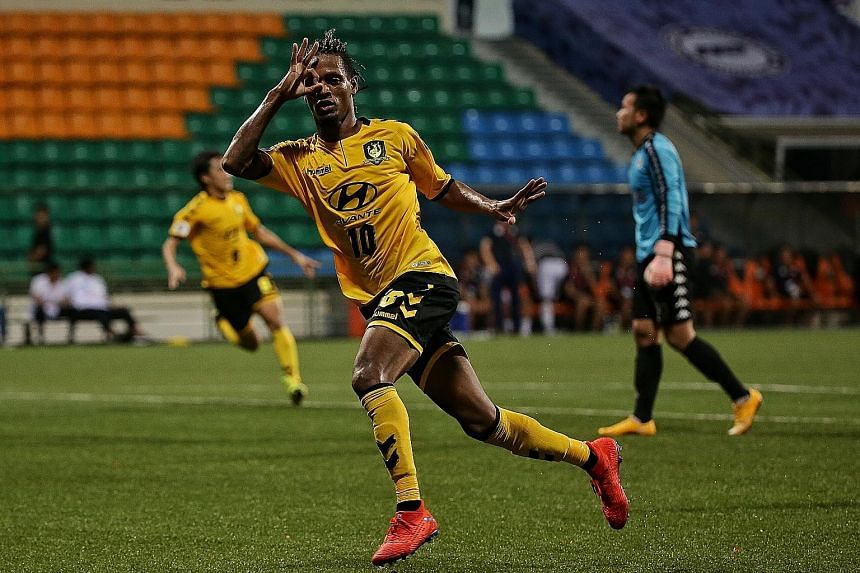 Tampines winger Jordan Webb has scored four goals in this season's AFC Cup and will be a big threat tonight against Yangon United. ST PHOTO: KEVIN LIM