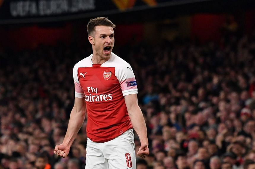 Ramsey (above) has been ruled out for the rest of the season due to a hamstring injury.