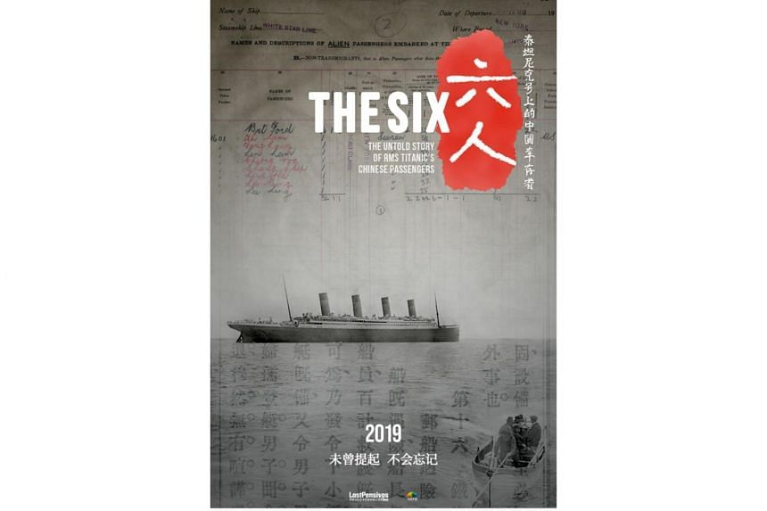 The ordeal of six Chinese survivors surfaces in a documentary film - The Six: The Untold Story Of RMS Titanic's Chinese Passengers - by British film-maker Arthur Jones.