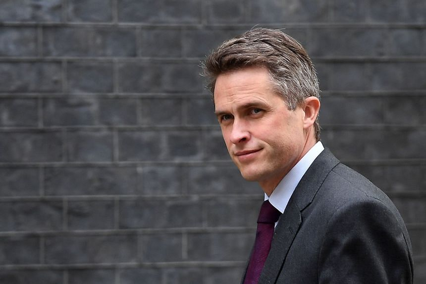 Williamson arrives for a Cabinet meeting in London, April 30, 2019.