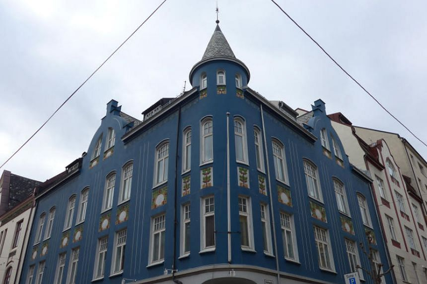 The coastal town of Alesund was rebuilt in the art nouveau style popular at the turn of the century.
