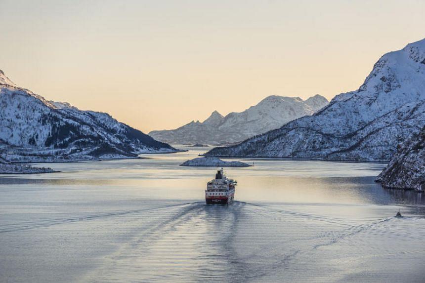 A Hurtigruten cruise. Hurtigruten has been sailing Norway's western coastline for more than 125 years.