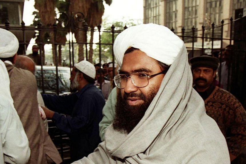 Masood Azhar arrives to address a press conference in Karachi in 2000.