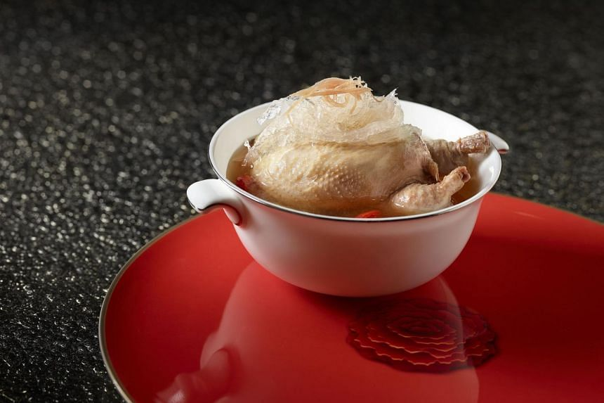 Traditional boneless quail filled with bird's nest in supreme broth at Shang Palace at the Shangri-La Hotel.