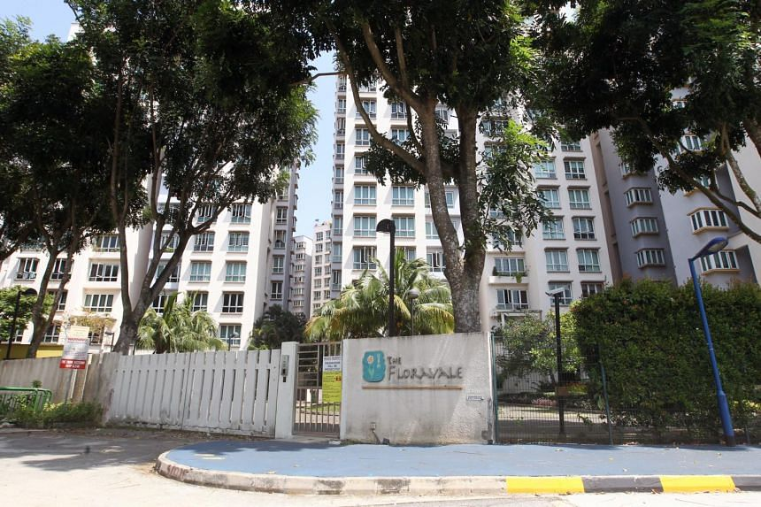 The Floravale condominium in Jurong West, where some residents have found foreign workers registered under their addresses without their knowledge.