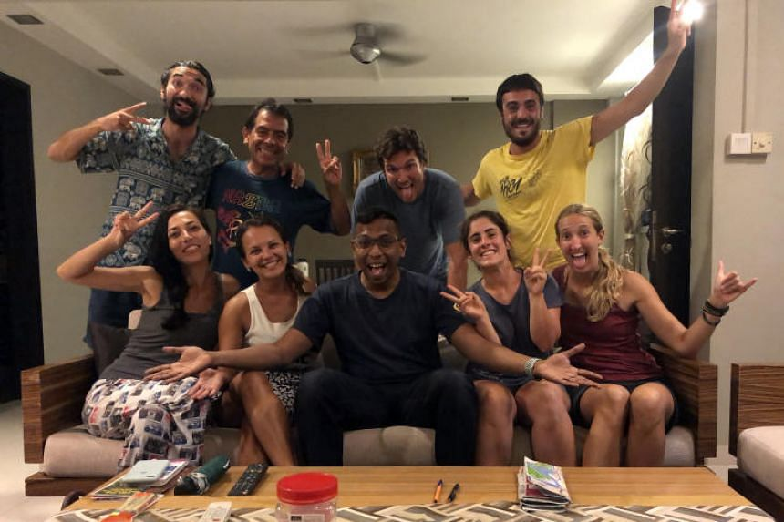 There are about 58,000 hosts in Singapore listed on Couchsurfing, an international network where locals in each country offer a bed, couch, mattress or sleeping bag to travellers.