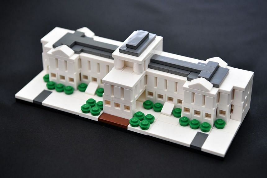 A close-up of the exclusive Istana model using Lego bricks to commemorate the 150th anniversary of the Istana.