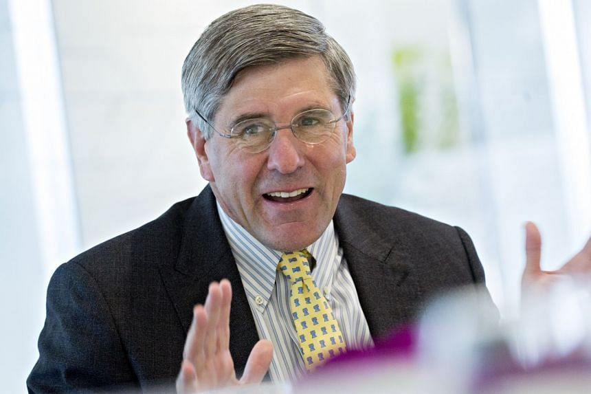 Stephen Moore speaks during an interview in Washington DC, on May 2, 2019.
