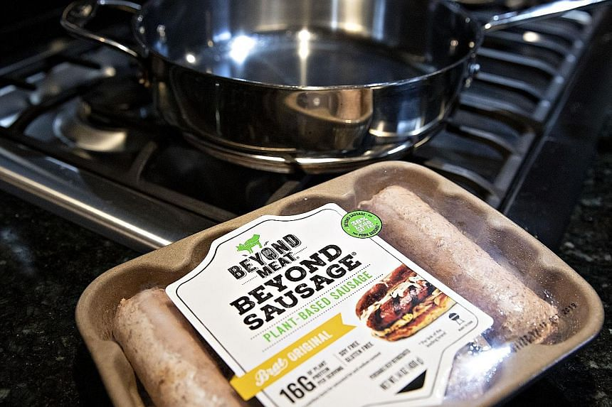 Beyond Meat uses sophisticated technologies to replicate the taste, colour, smell and texture of meat. PHOTO: BLOOMBERG
