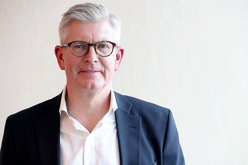 Ericsson chief executive Borje Ekholm predicts that the real playing field for 5G technologies will be in the enterprise market. PHOTO: BLOOMBERG