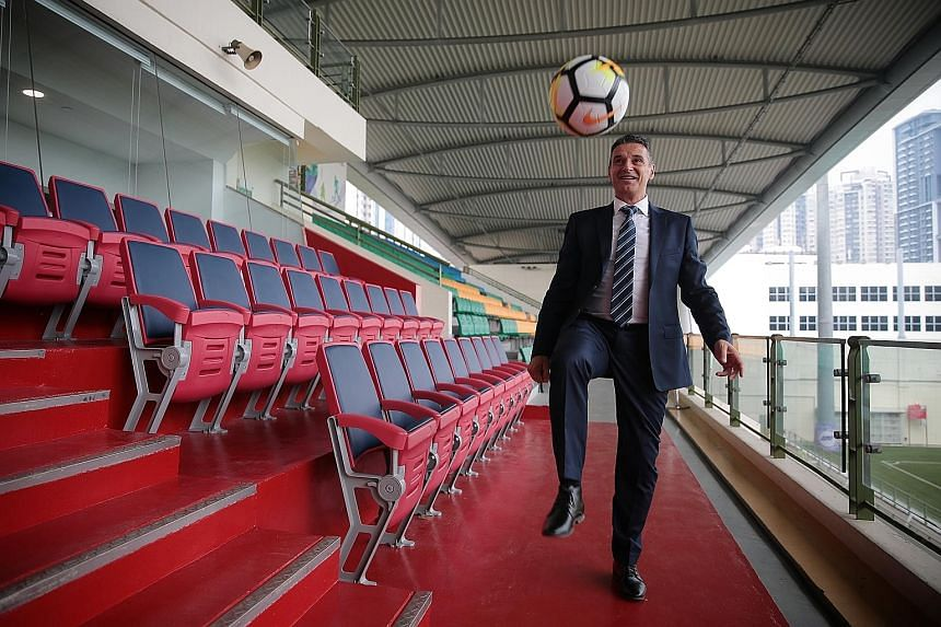 Joseph Palatsides will juggle the development of national age-group teams, grassroots and women's football, and strengthen the youth development and coaching structures. ST PHOTO: JASON QUAH
