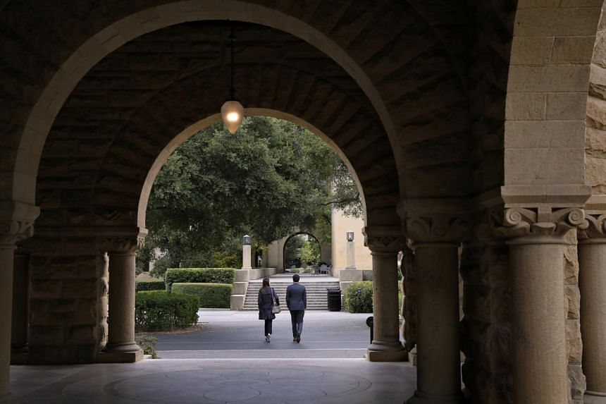 The Stanford University campus in Stanford, California. Prosecutors say that a college consultant had tried to get a student recruited to the Stanford sailing team by providing a fake list of sailing accomplishments.