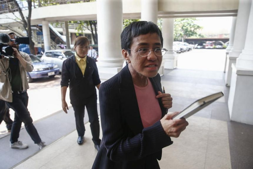 Founder of online news site Rappler Maria Ressa has been charged in 11 cases, all of which she says are part of a coordinated campaign of legal harassment and online trolling intended to discourage journalists from questioning Mr Duterte.