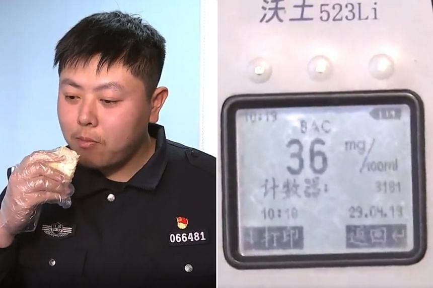 Police officers later carried out their own experiment in which an officer ate durian and underwent a breathalyser test. His blood alcohol level was found to be 36mg per 100ml, above the legal limit of about 20mg per 100ml.