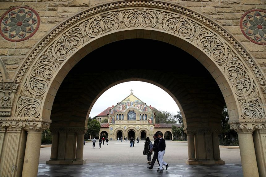 At the Stanford campus this week, several students seemed unfazed by the news that one of their peers had paid millions to be there. PHOTO: AGENCE FRANCE-PRESSE