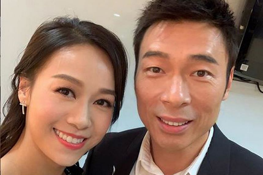 Actress Jacqueline Wong and singer Andy Hui (both above) were caught kissing in the back of a taxi in a video released on April 16.