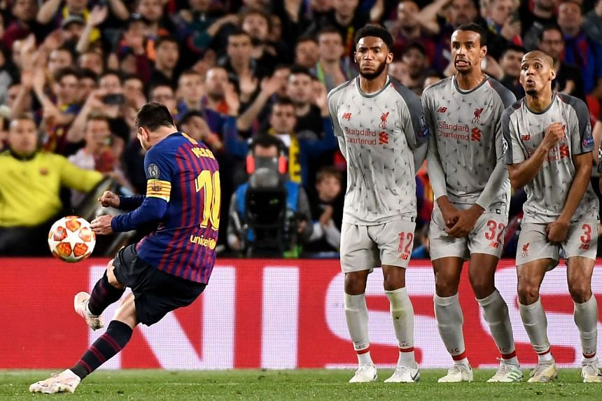 Barcelona talisman Lionel Messi striking an unstoppable free kick above the Liverpool wall for his team's third goal in the 3-0 Champions League semi-final first-leg win on Wednesday. Despite the big victory, Barcelona coach Ernesto Valverde has in