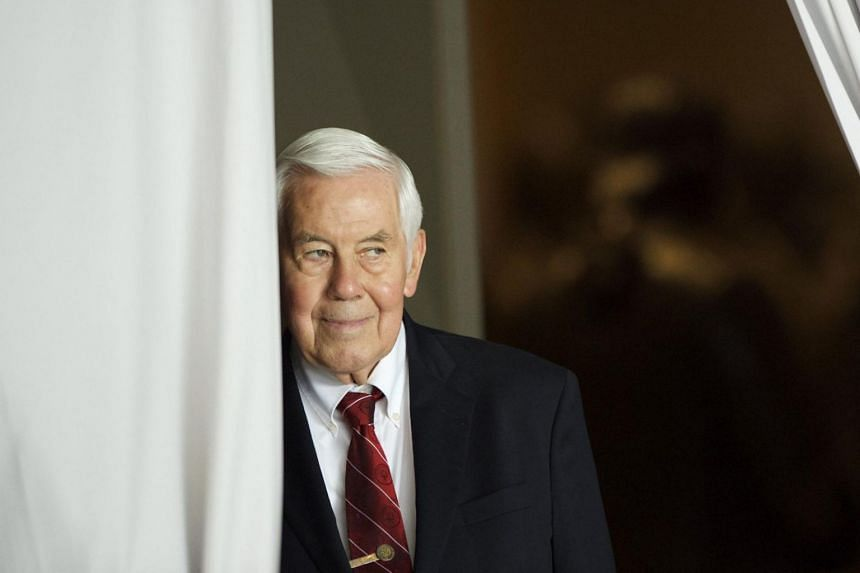 Prime Minister Lee Hsien Loong said he met former US senator Richard Lugar (pictured) on many occasions over the years, and felt fortunate to have benefitted from his wisdom and experience.
