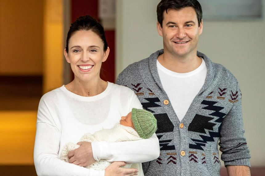 New Zealand Prime Minister Jacinda Ardern (left) with her partner Clarke Gayford in 2018. Ardern's engagement to Gayford broke after journalists noticed her wearing a ring on her middle finger on May 3, 2019.