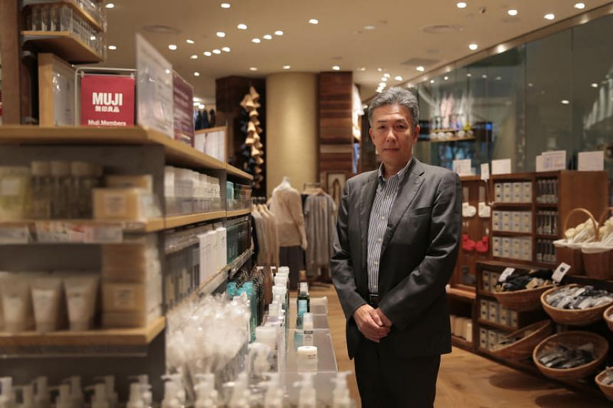 Mr Naoki Kadoike, Muji Singapore's managing director, at the Muji outlet in Jewel Changi Airport. The Japanese lifestyle brand's 12th outlet here opened on April 26, 2019.