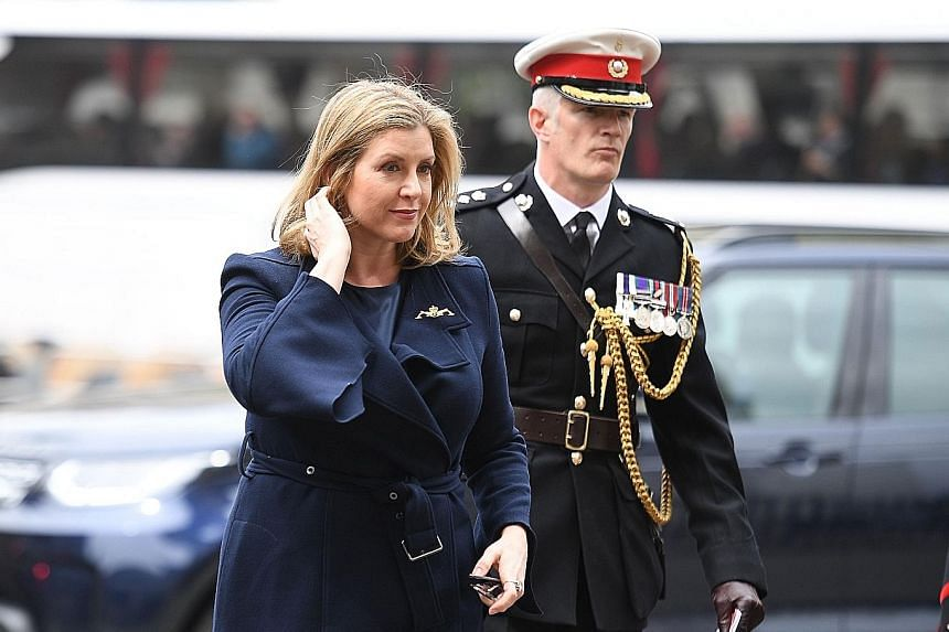 Ms Penny Mordaunt making her first public appearance yesterday as the new UK defence secretary.