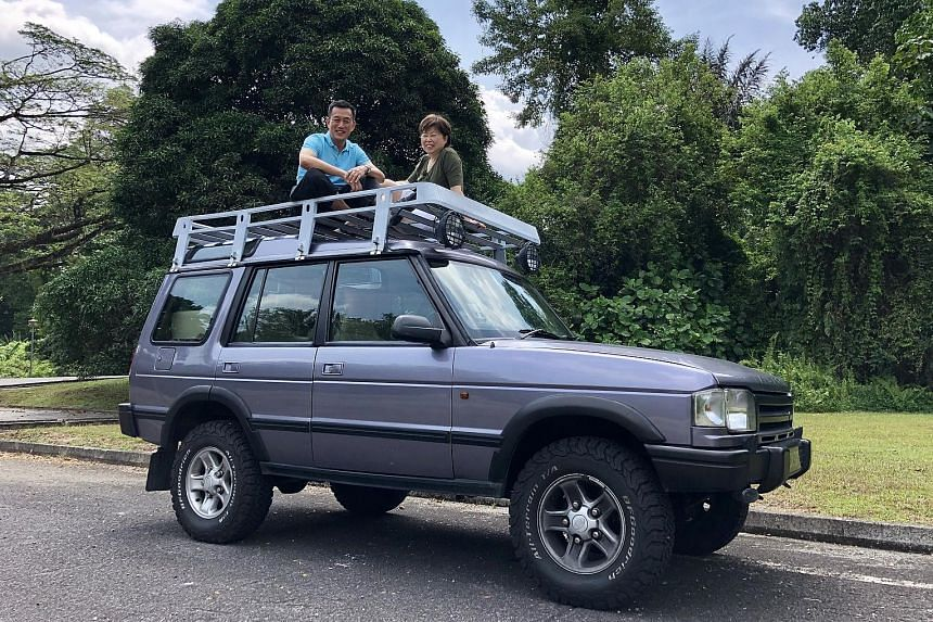Mr James Lee, with his wife Sung, paid $86,000 in 1999 for the Land Rover Discovery, a first-generation model which may be the only unit left in Singapore.