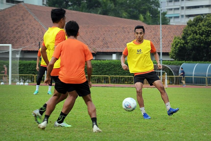 Hougang's Faris Ramli is raring to go against Tampines when the two sides meet tomorrow for the second time this season. ST PHOTO: ALPHONSUS CHERN