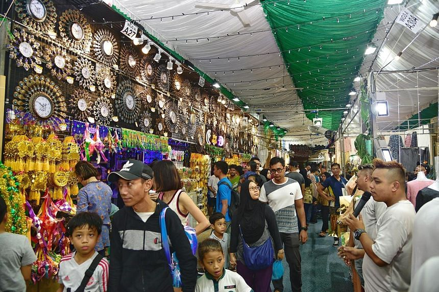 Visitors to this year's Hari Raya Bazaar in Geylang Serai will enjoy wider walkways as they browse through the greater proportion of traditional offerings. The bazaar will run till Hari Raya Puasa on June 5.