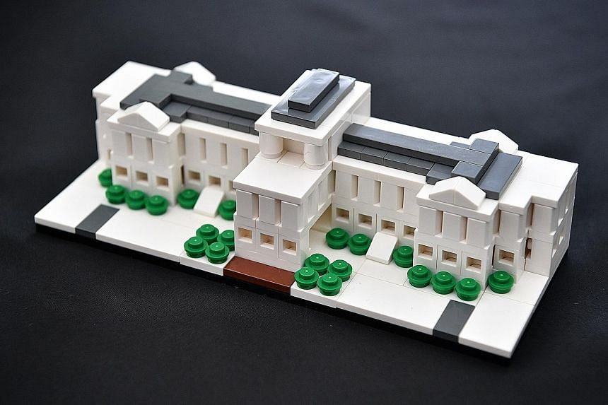 The Lego model was made to mark the Istana's 150th anniversary this year.