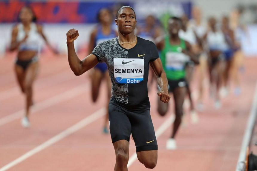 South Africa's Caster Semenya competes in the women's 800m.