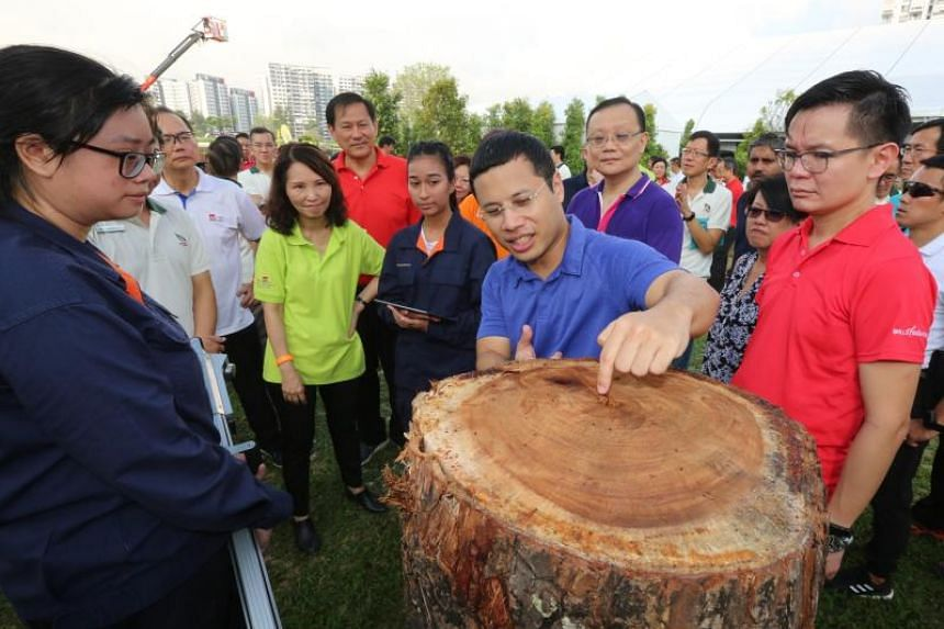Second Minister for National Development Desmond Lee at the launch of the Landscape Sector Transformation Plan at the Jurong Lake Gardens.