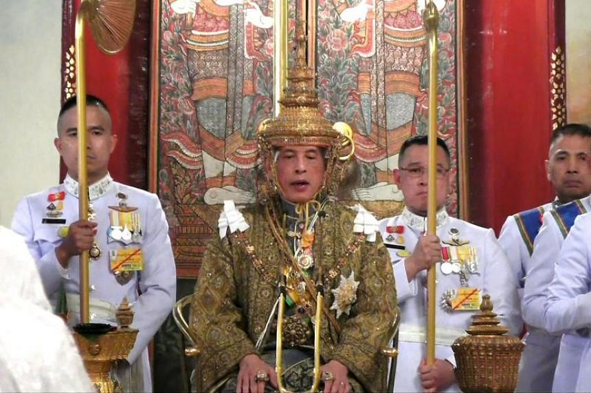 Thailand's King Maha Vajiralongkorn crowned during his coronation ceremony in Bangkok, Thailand, on May 4, 2019. It was Thailand's first coronation in 69 years.
