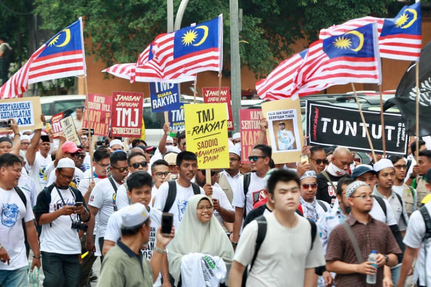 The rally was organised by pro-Islam umbrella coalition Gerakan Pembela Ummah, which said Muslims needed to come together to defend their rights.