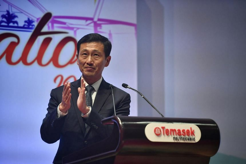 Minister for Education Ong Ye Kung at the 1st Session of Temasek Polytechnic's 29th Graduation Ceremony on May 3, 2019.