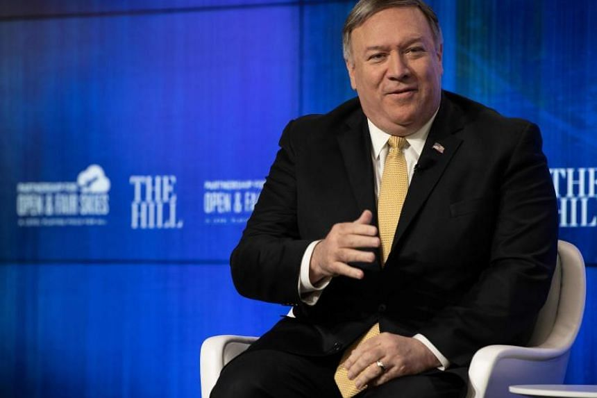 US Secretary of State Mike Pompeo at a discussion on the major foreign policy priorities of the State Department in Washington, DC, on April 29, 2019.