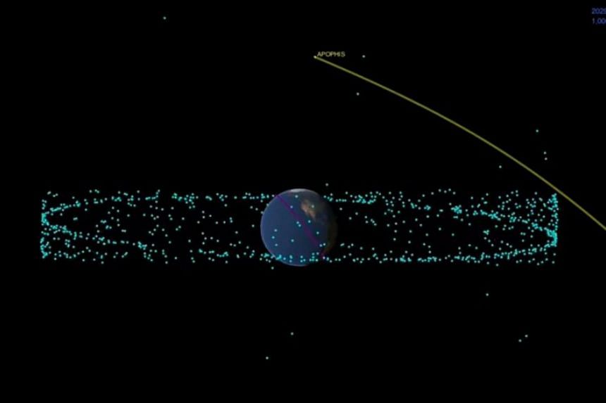 99942 Apophis is expected to approach the Earth dangerously close on April 13, 2029. But there is no need to worry as the asteroid will be about 31,000km away from the surface of the Earth.