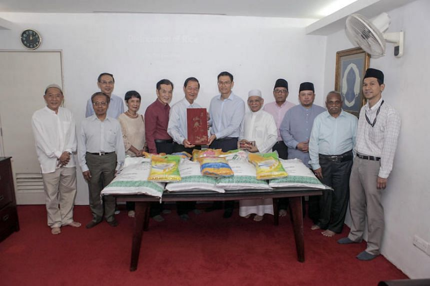 The Singapore Buddhist Lodge donated 35 tonnes of rice to mosques here last month, ahead of Ramadan.