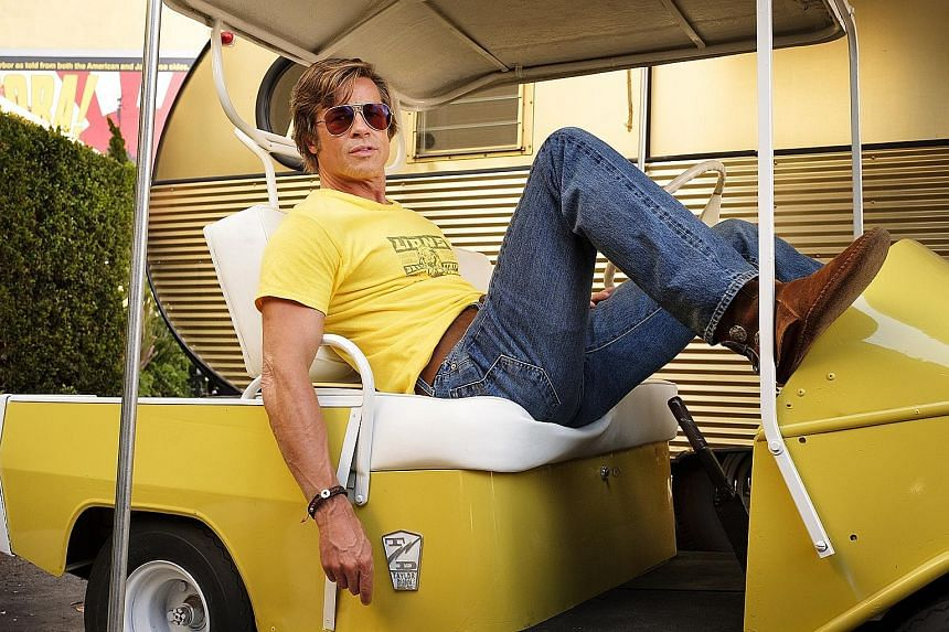 Once Upon A Time In Hollywood stars Brad Pitt (above) as a 1970s Hollywood stuntman.