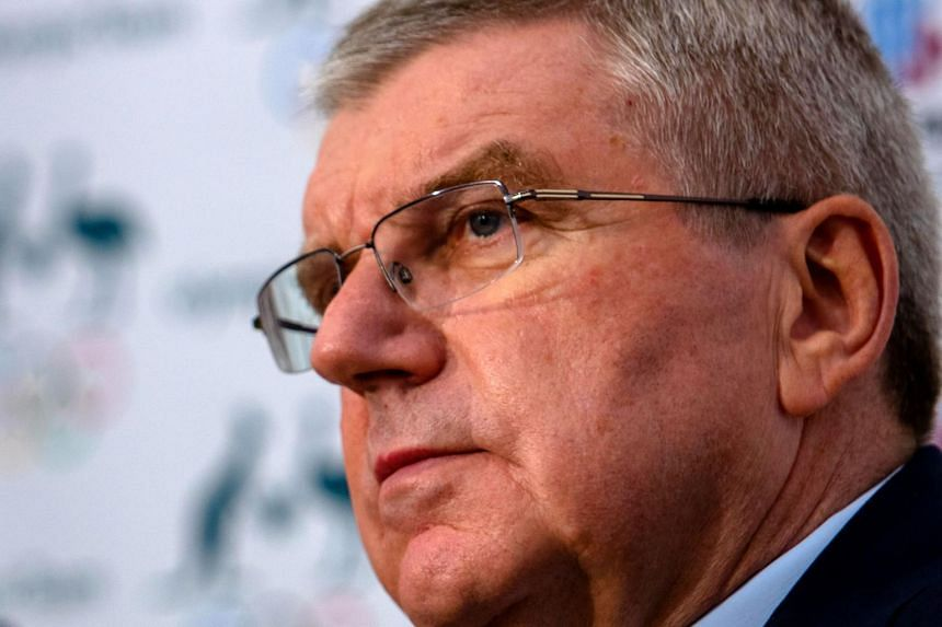 International Olympic Committee (IOC) President Thomas Bach attends a press conference in Brisbane on May 6, 2019.